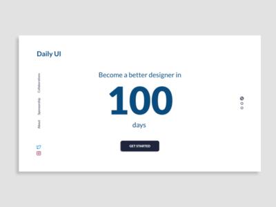 Daily UI Day 100: Redesign Daily UI Landing Page