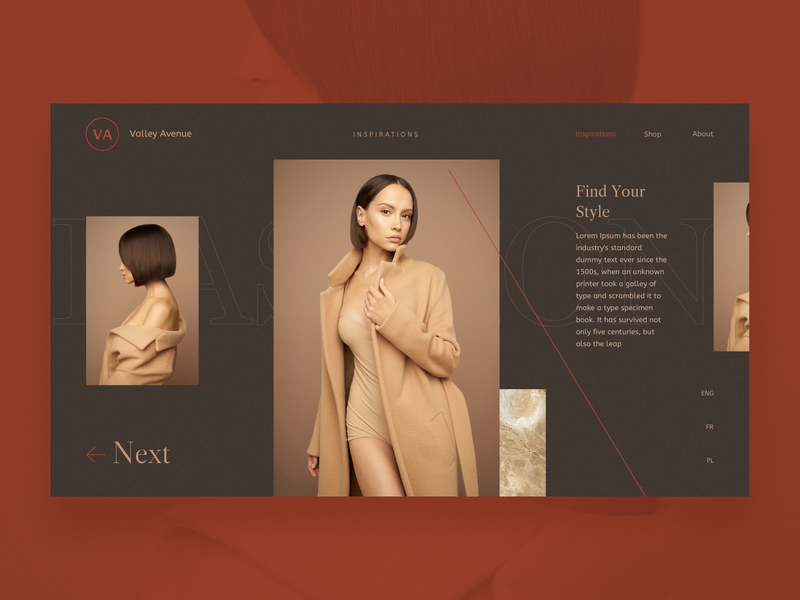 Fashion - concept layout sketch website elegant lines landing page photography composition woman fashion woman style ui logo graphic design branding typography minimal fashion webdesign web concept design