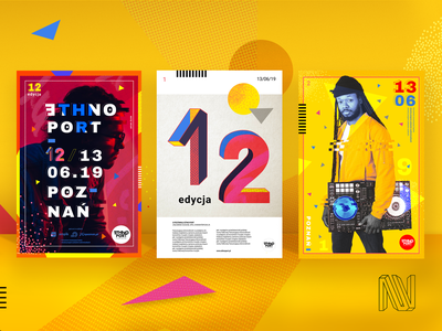 Ethno Port Festival - posters abstract iconography identity symbol shapes numbers typography concept animation logo ui design digital poster art poster design illustraion branding design brand identity brand concept design