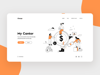 Fintech - concept app design 2 colors people illustration minimal exchange fintech app fintech website webdesign web illustration sketch ios typography brand identity iconography branding graphic design design concept design