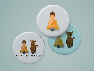 Pin button badge design