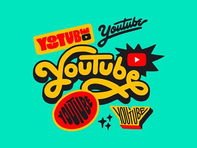 YouTube Header brasil youtube logomania illustration brazil logotype typography type lettering