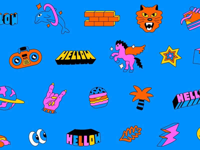 Hellow Festival 2020 illustration design music festival mexico illustration lettering