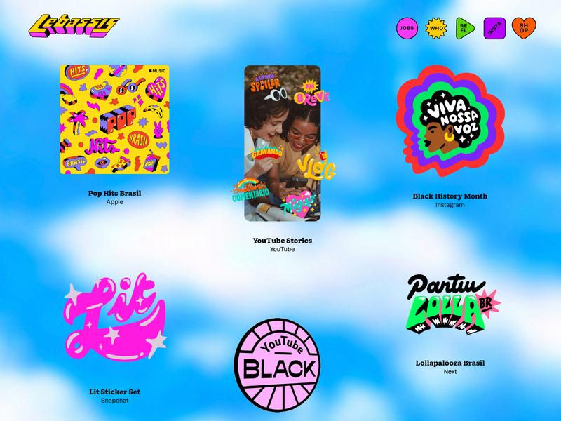 LEBASSIS.COM illustration lettering portfolio website