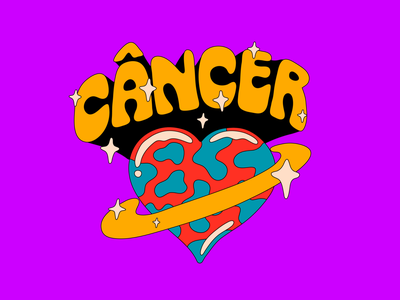 Signs Typography: Cancer type typography