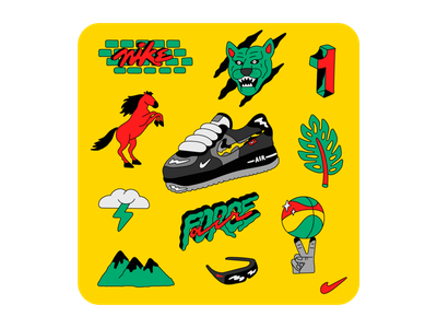 Nike Remix Pack: Air Force 1 airforce illustration lettering nike
