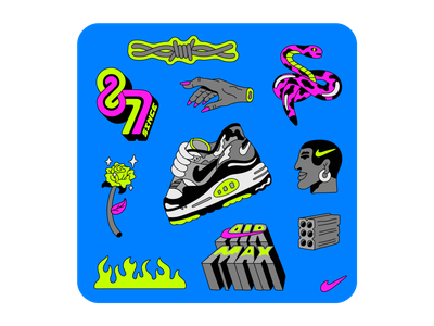 Nike Remix Pack: Air Max 87 air max 87 nike air max illustration lettering nike