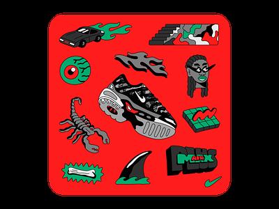 Nike Remix Pack: Air Max Plus air max plus air max nike air max lettering illustration nike