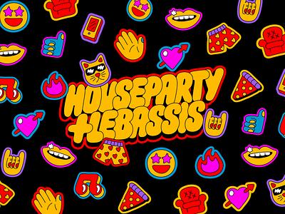 Houseparty x Lebassis pattern design pattern illustration lettering