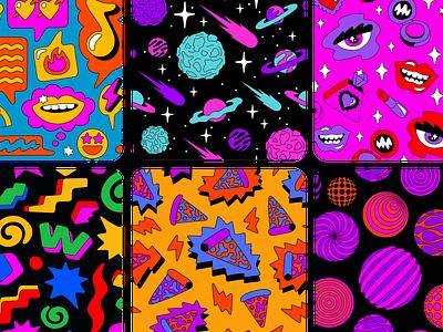 Houseparty Patterns illustration pattern design pattern