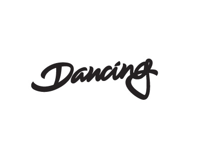 Dancing lettering dancing cheetah logo dancing debut logo design logotype