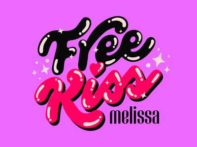 Melissa Free Kiss vector logo design custom type brazil logo typography type lettering