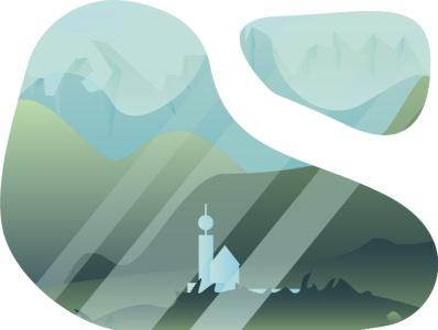 landscape adobe illustrator картина цвет лето дизайн плоский акварель город стиль милый иллюстратор landscape icon art vector minimal illustrator illustration design animation