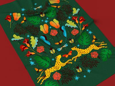Tropical Dream Flag fashion illustration fashion design color palette color illustration illustrator design