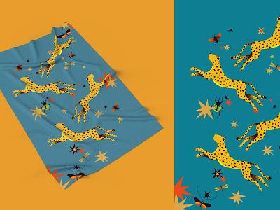 Tropical Dream surface design fashion illustration vector design fashion design editorial color palette illustrator illustration leopard print cheetah