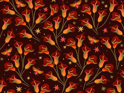 Tropical Dream textures bee art color flower illustration tropical leaves illustrator surface design fashion illustration fashion design editorial color palette illustration