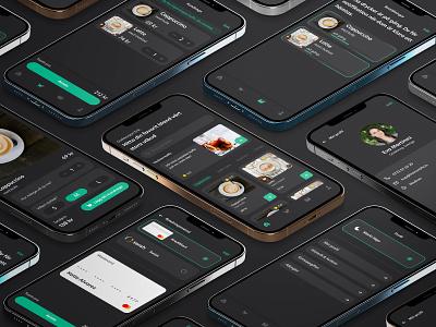 """""""Swedish fika"""" - mobile app sweden darktheme ui minimal design"""
