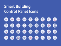 Smart Building Control Panel Icons
