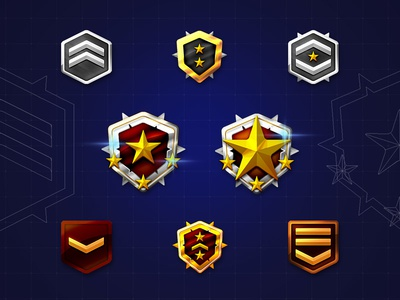Gamification badges design [freebie]