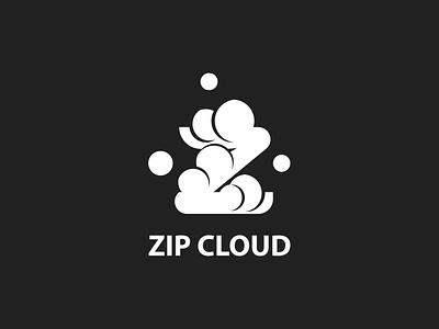 Zip Cloud minimal branding illustrator logo flat vector illustration design dailylogochallenge