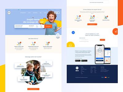 Nanny Homepage web design web nanny ui nanny colorful nanny company babysitting nanny homepage