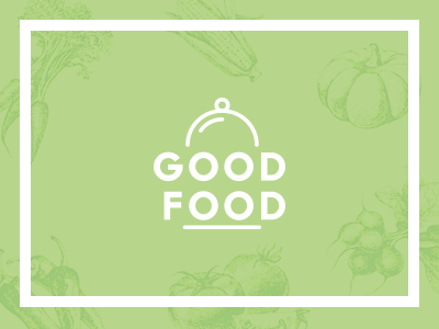 Good Food  healthy food plate mark typography organic nature health identity branding logo