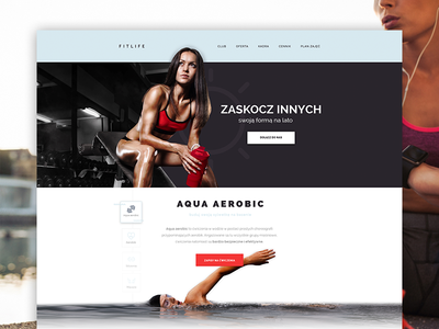 Fitlife  fitness gym web web design ui women sport gym club web design