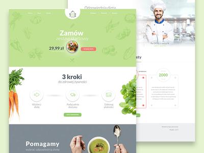 GoodFood // Web web design organic nature healthy food web food