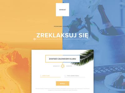Landing Page - Travel Company