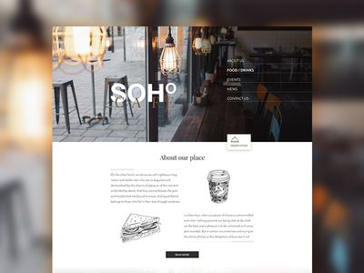 Soho Cafe - Web web web design yummy restaurant coffee food cafe