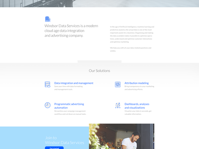 Landing Page // Data Services  web data services clean landing ux ui design design landing page