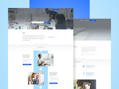 Landing Page // Data Services