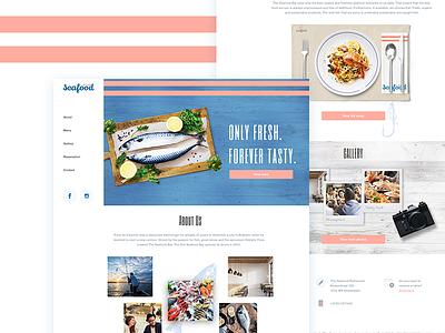 🐟Seafood Restaurant🐟 Web design seafood web food web seafood design restaurant web food fish seafood