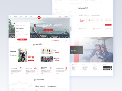 Air Asia - Concept air asia booking website webdesign travel ui design gradient flight booking flight