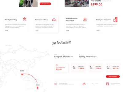 Air Asia - Concept air asia booking website webdesign travel ui design gradient flight booking flight