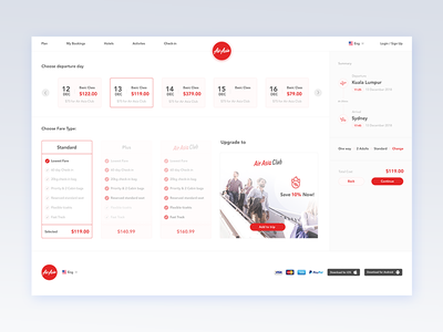 AirAsia - Search Results web design. search results search ui design travel gradient flight booking flight booking air asia