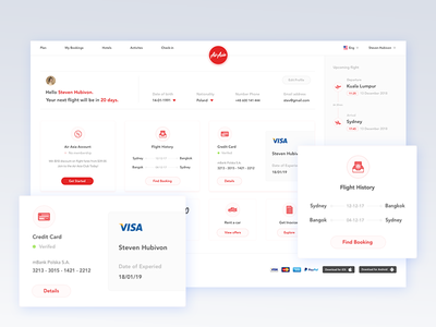 Air Asia Concept - Profile web design ui design travel search results search gradient flight booking flight booking air asia