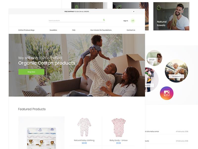 Organic Shop🌿 clean online shop minimal eco ecology ecommerce minimal shop shop organic shop organic