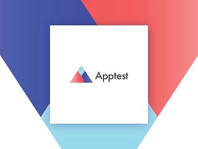 Apptest - Logotype identity mark gradient design logo brand