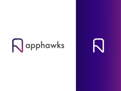 Apphawks - Logotype app qa company qa logo qa brand logo design gradient mark identity