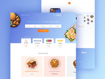 reserva / web ui design food illustration restaurant web web web design reservation restaurant food