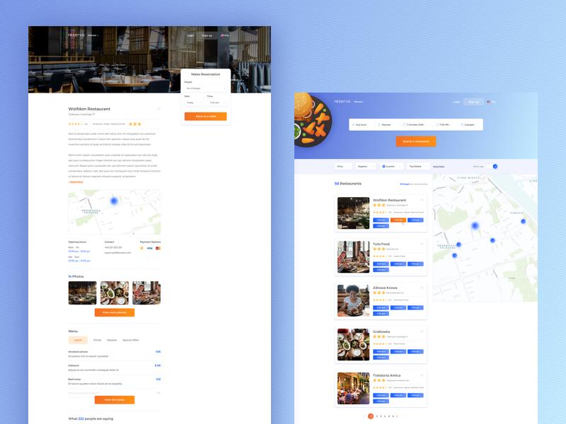 reserva / subpages web design web ui design details page restaurant web restaurant reservation search result food