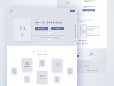 Audiobox - Homepage Wireframe