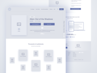 Audiobox - Homepage Wireframe web design audio books audiobooks ux design ux