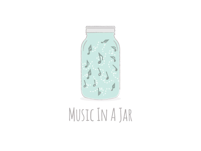 Music In A Jar music music logo logo logo design jar