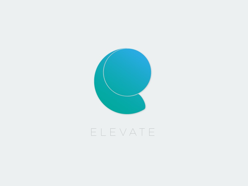 Elevate icon illustration logo e logo e elevate