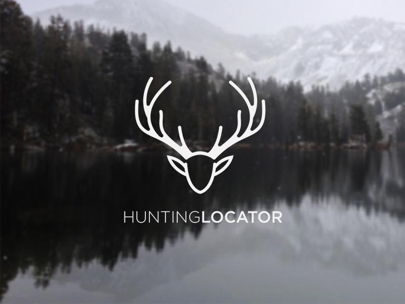 Hunting Locator hunting hunt logo illustration icon