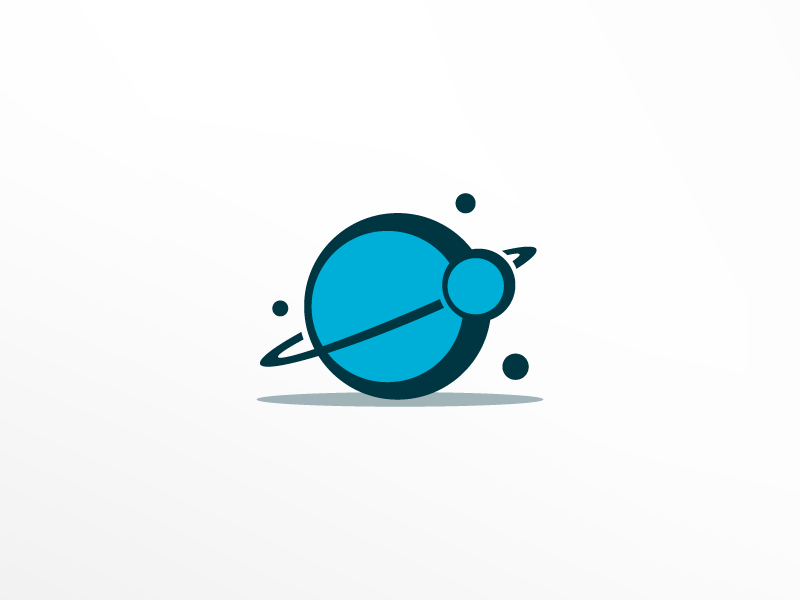 Cosmic branding logo design logo star asteroids planet cosmos space illustration icon
