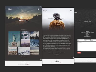 Charlie website design design website