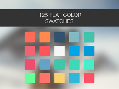 125 Flat color Swatches illustrator swatches photoshop swatches color scheme flat ui indesign illustrator photoshop colors palette swatches ui flat